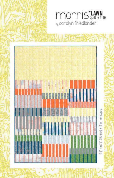 carolyn friedlander morris lawn quilt sewing pattern
