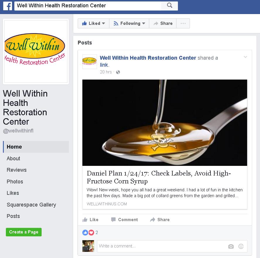 facebook daniel plan