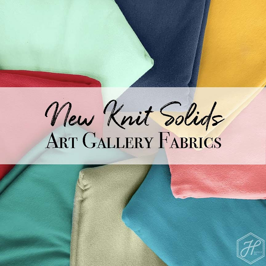 New Knit Solid colors from Art Gallery at Hawthorne Supply Co