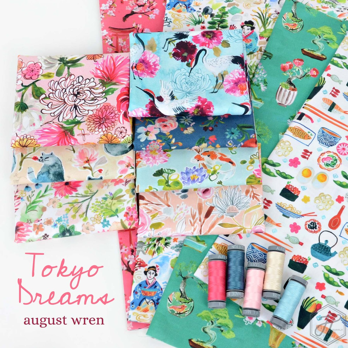 Tokyo Dreams Fabric August Wren at Hawthorne Supply Co.