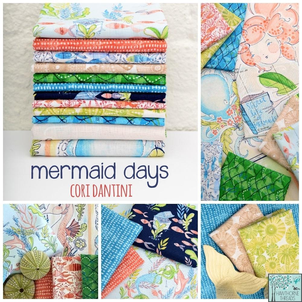 Mermaid Days Fabric Poster