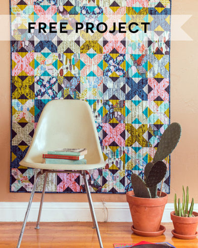quilt freeproject newsletter-400x500