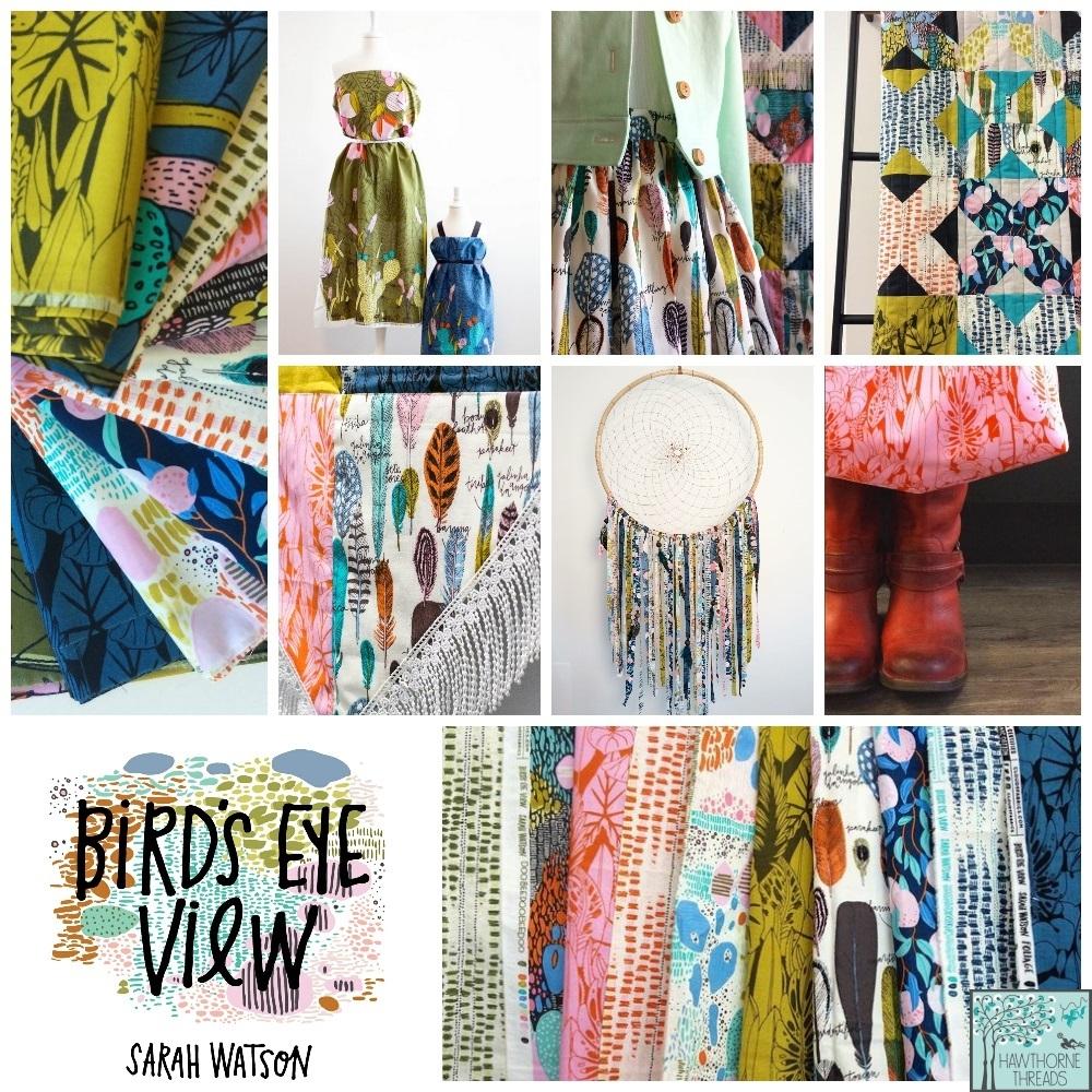Birds Eye View Fabric Poster