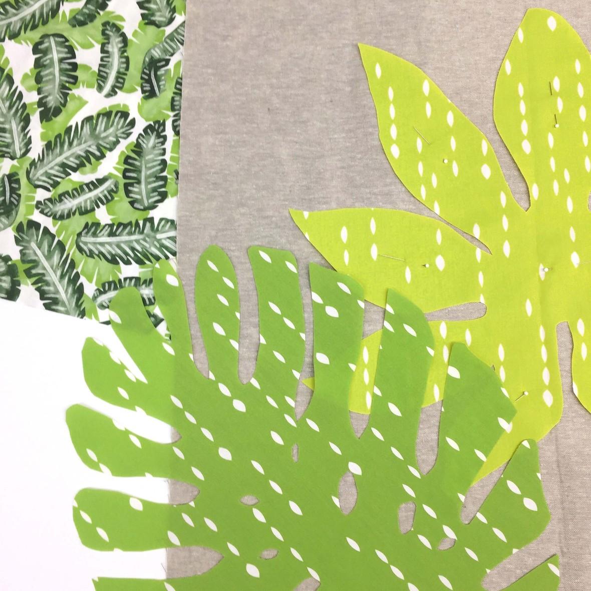 Botany Fabric Leaf Applique