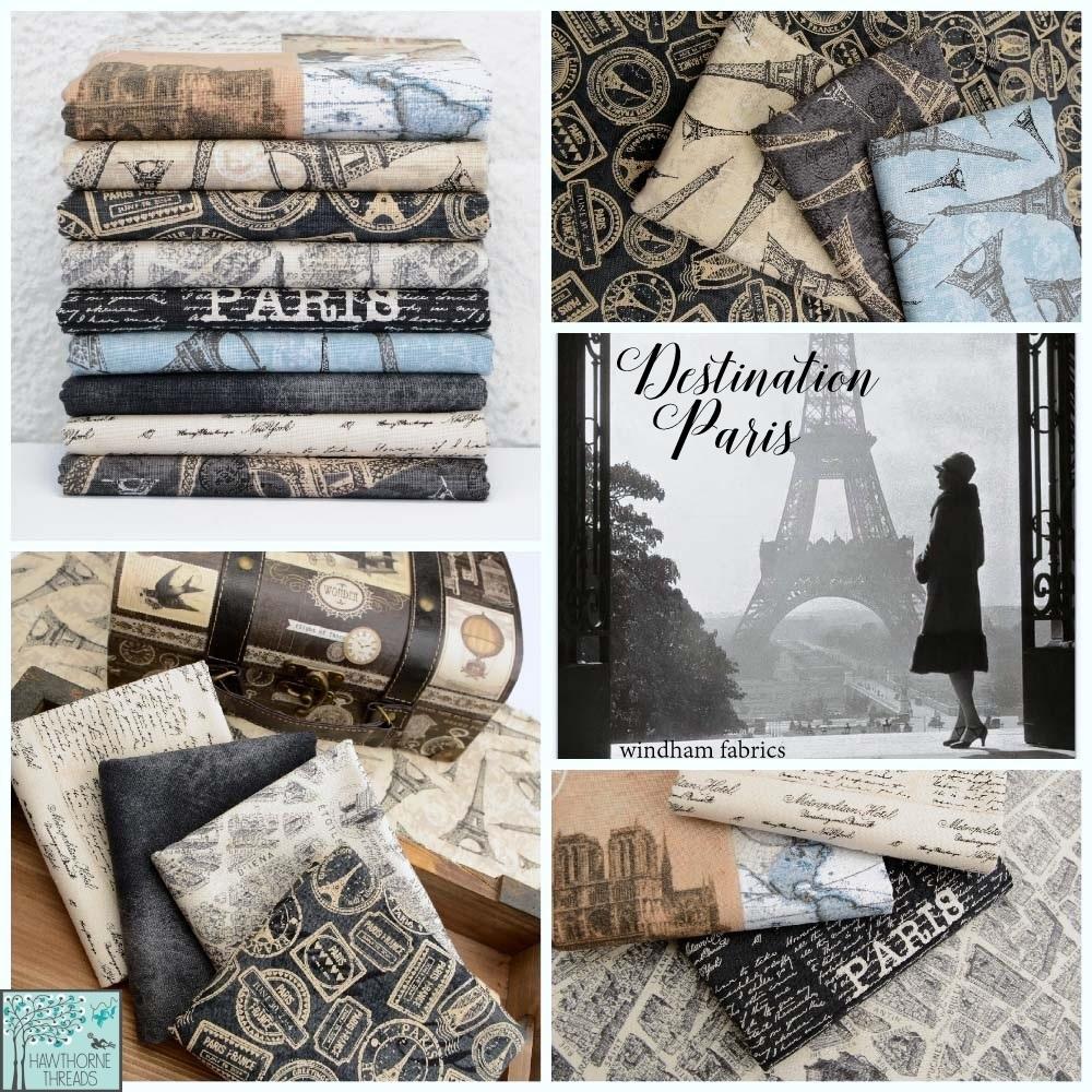 Destination Paris Fabric Poster