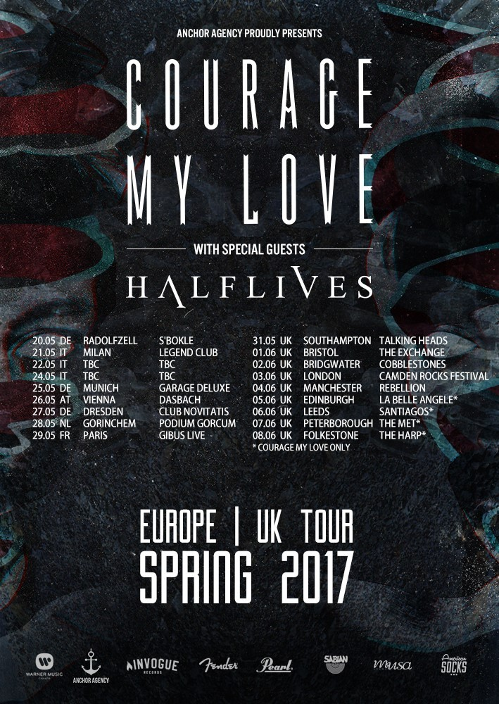 courage my love uk tour