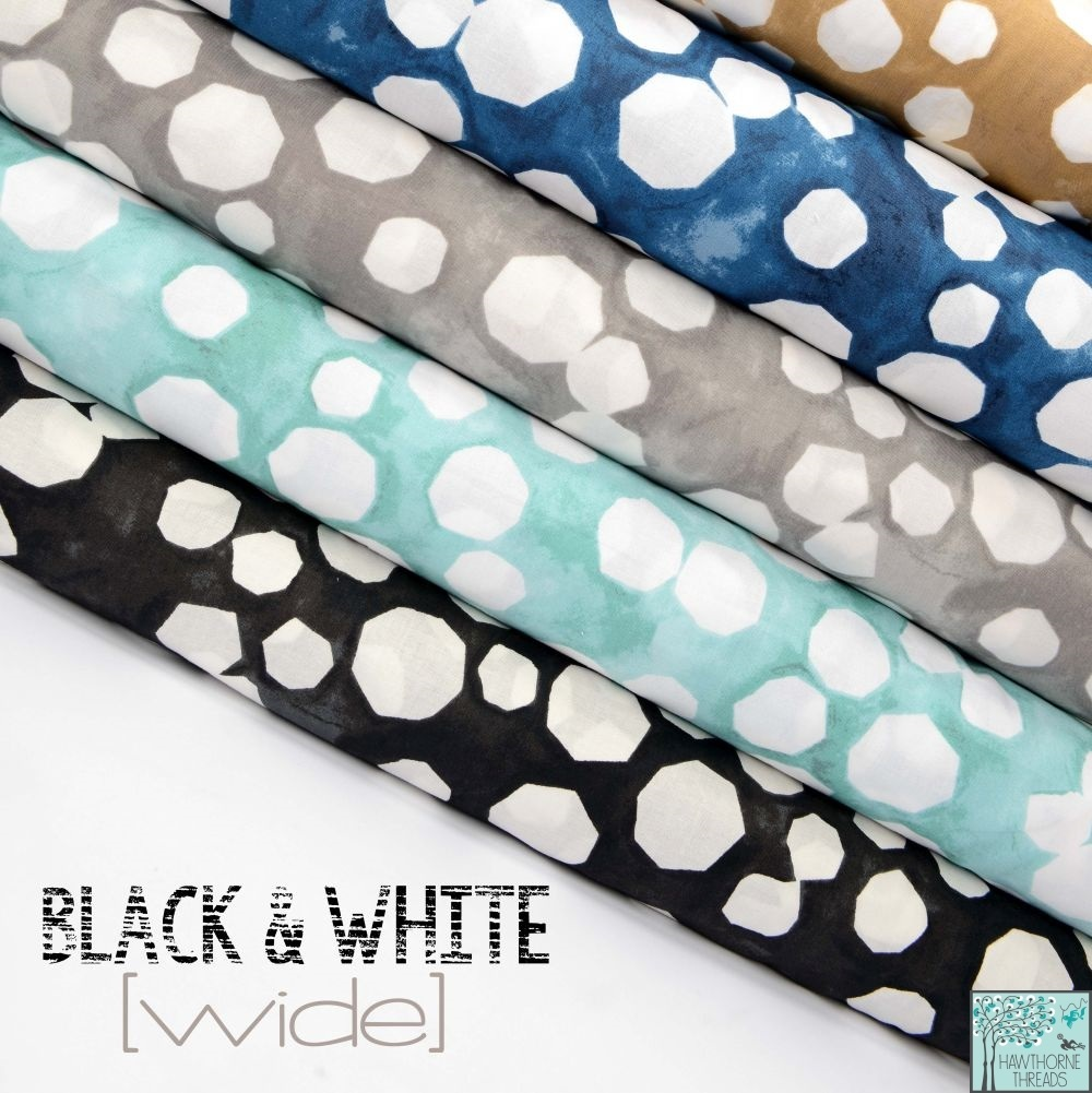 Black and White 2 Fabric Poster Wide