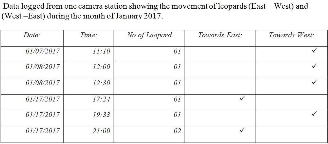 Leopard Movement Data
