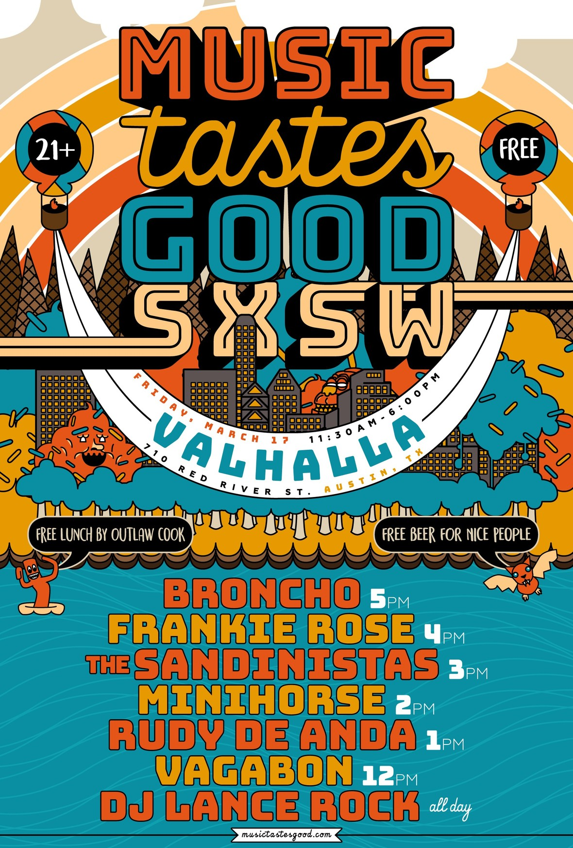 music tastes good sxsw 2017 flyer use this one