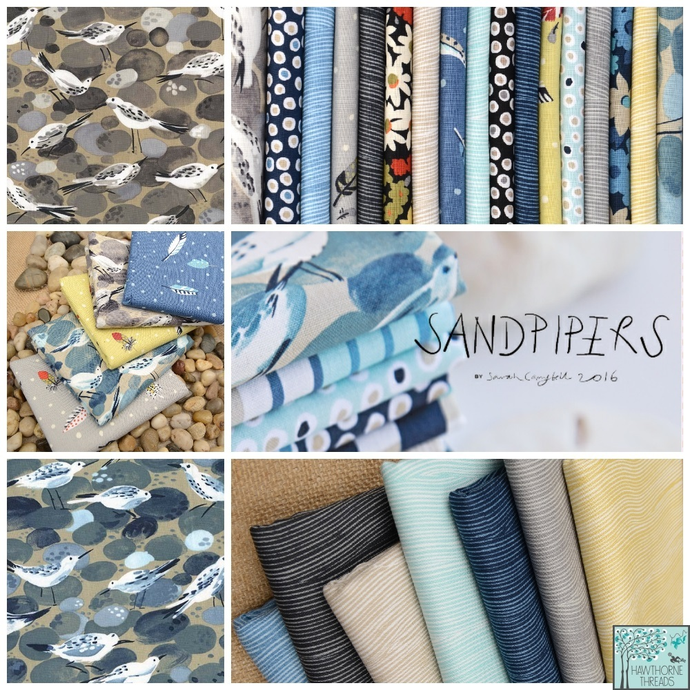 Sand Pipers Fabric poster