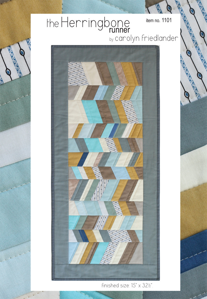 carolyn friedlander the herringbone runner quilt sewing pattern