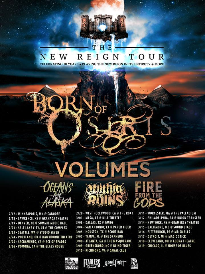 Fire From The Gods - Born of Osiris tour