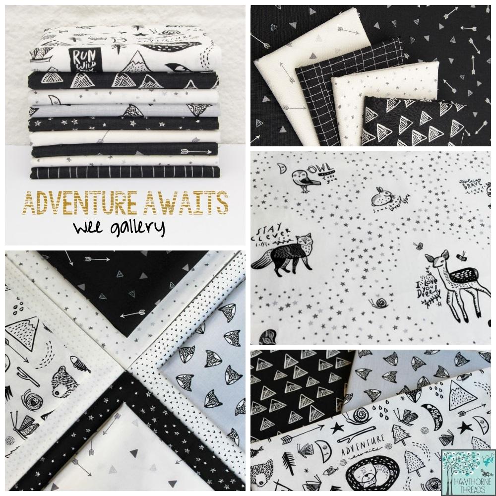 Adventure Awaits Fabric poster
