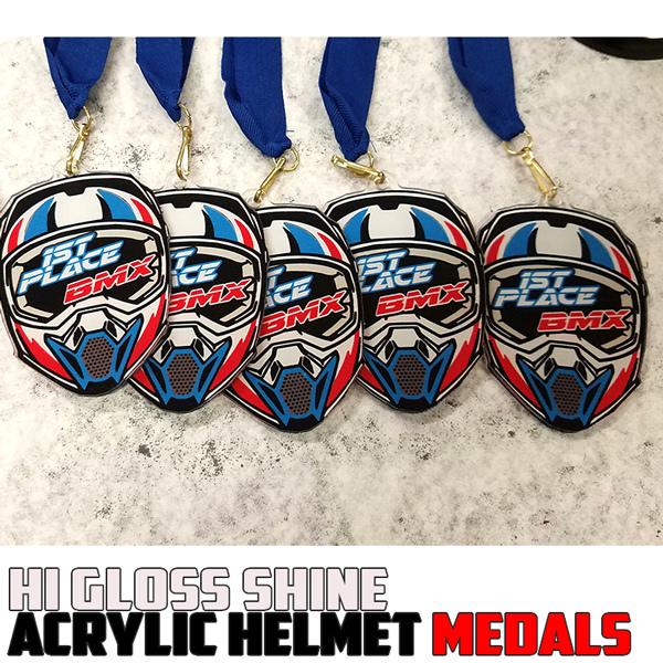 Helmet Acrylic Medals
