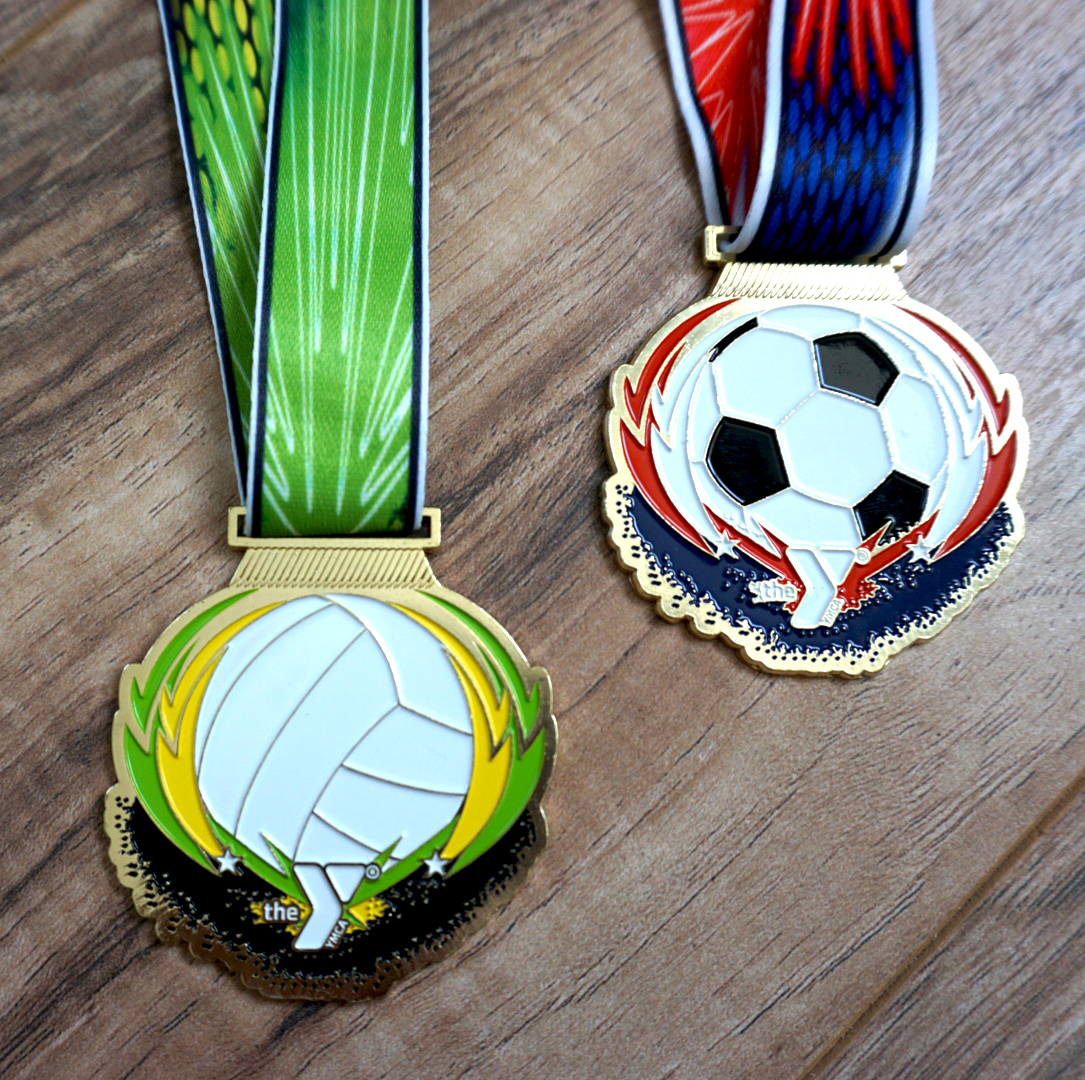 Custom Colorful YMCA Medals