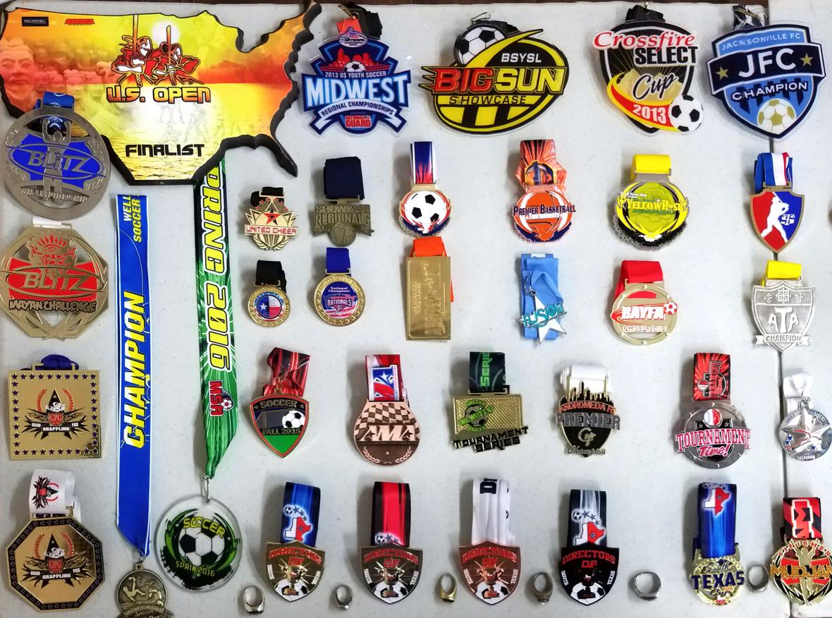 Soccer Medallions Custom Die Cast
