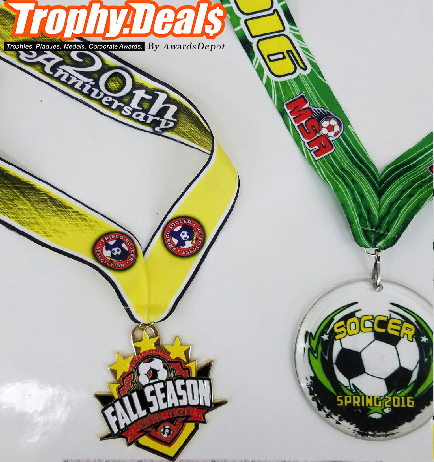 Yellow and Green Medals