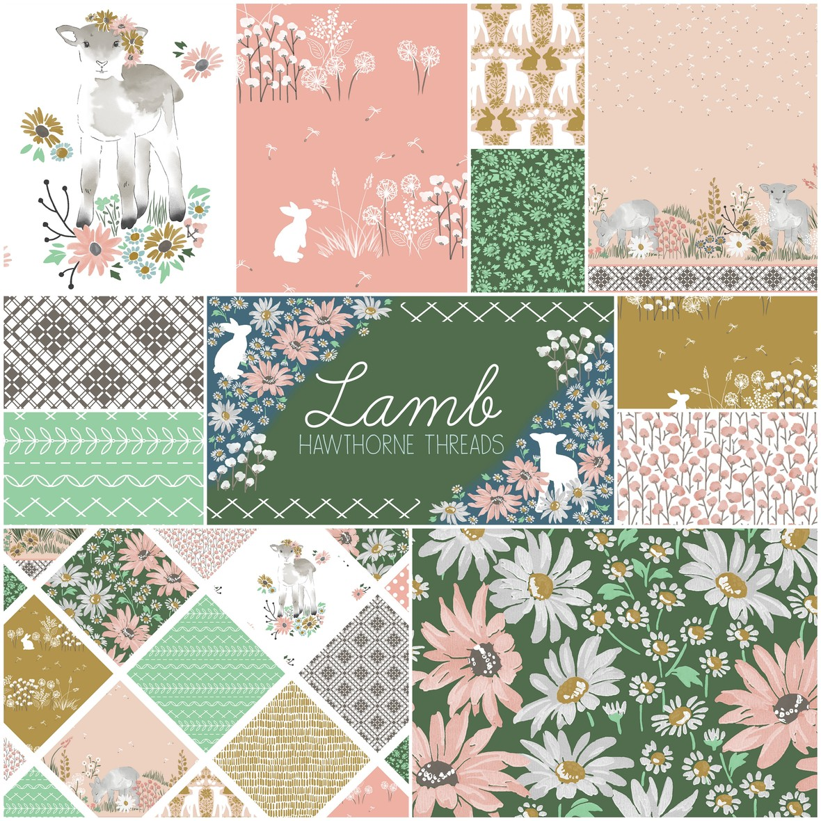 Lamb Sunny Afternoon Fabric