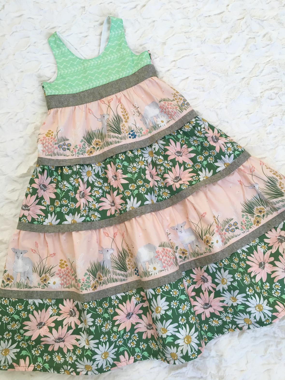 Ava Lamb Fabric Easter Dress