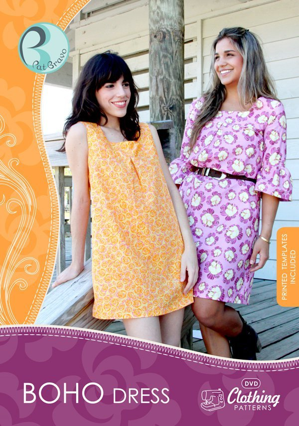 patricia bravo boho dress pattern and dvd tutorial sewing pattern