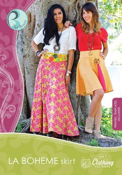 patricia bravo la boheme skirt sewing pattern