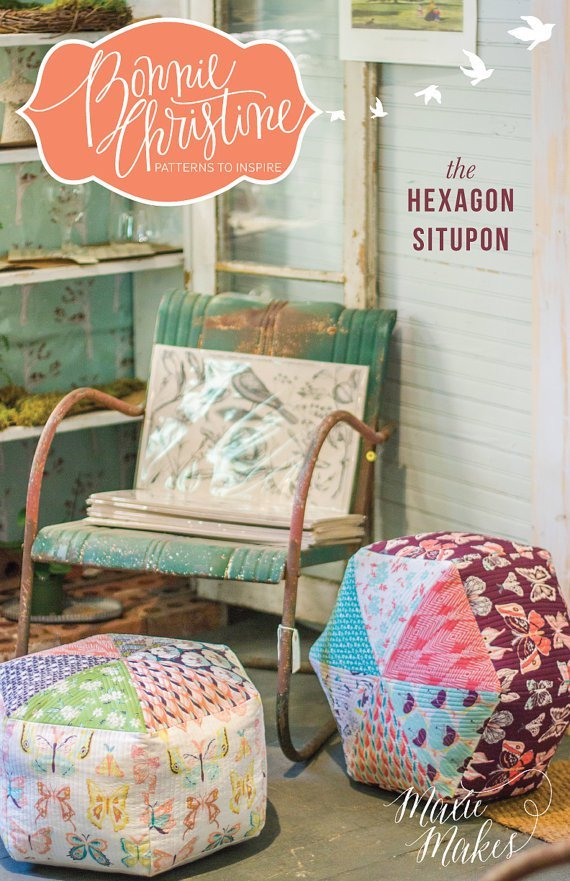 bonnie christine the hexagon situpon sewing pattern