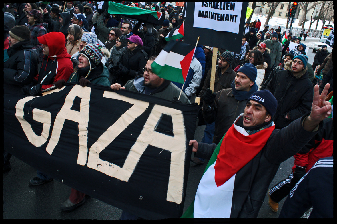 Gaza manif montreal