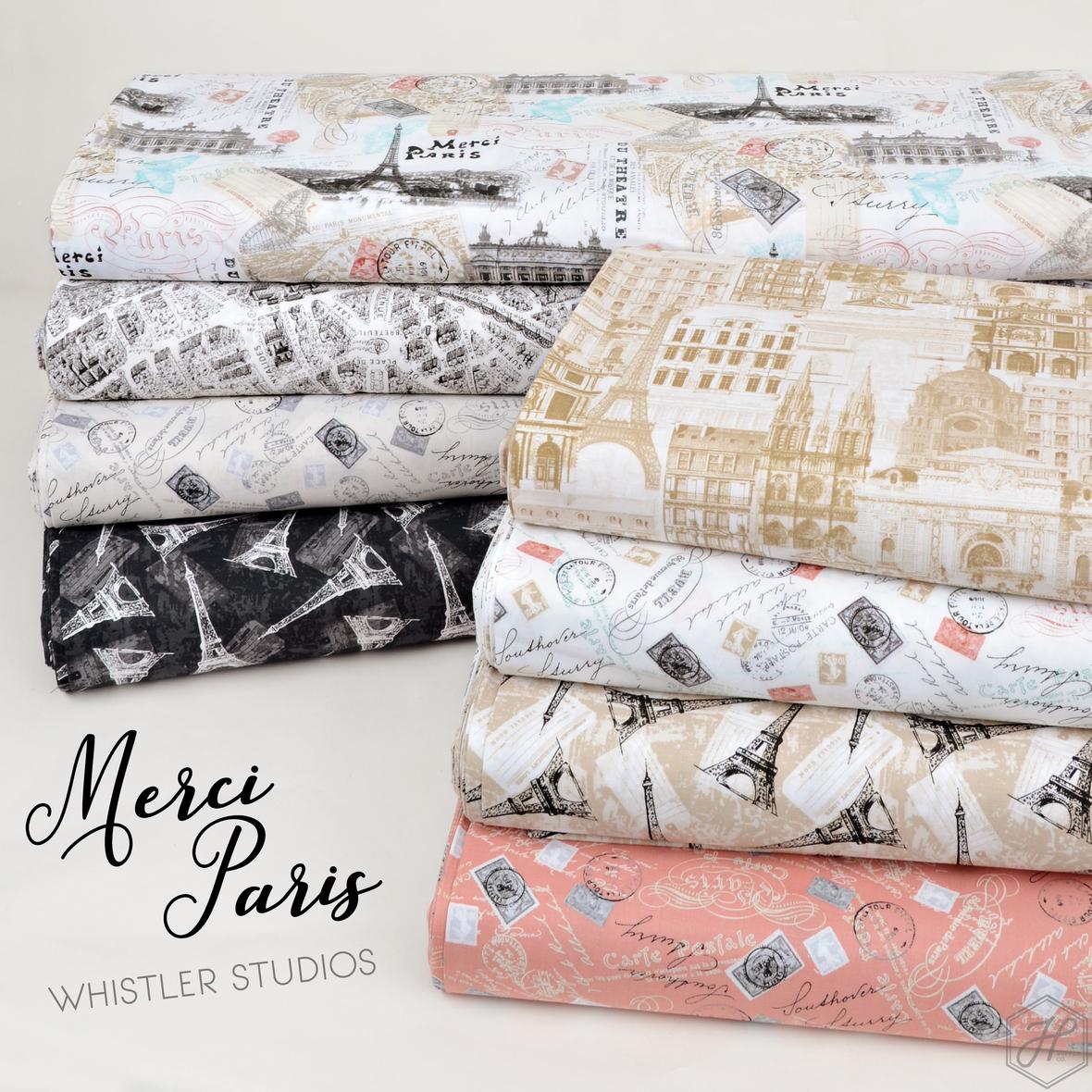 Merci Paris fabric collection Windham fabrics at Hawthorne Supply Co 2