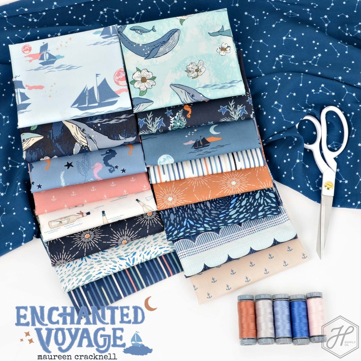Enchanted Voyage Fabric from Maureen Cracknell for Art Gallery at Hawthorne Supply Co