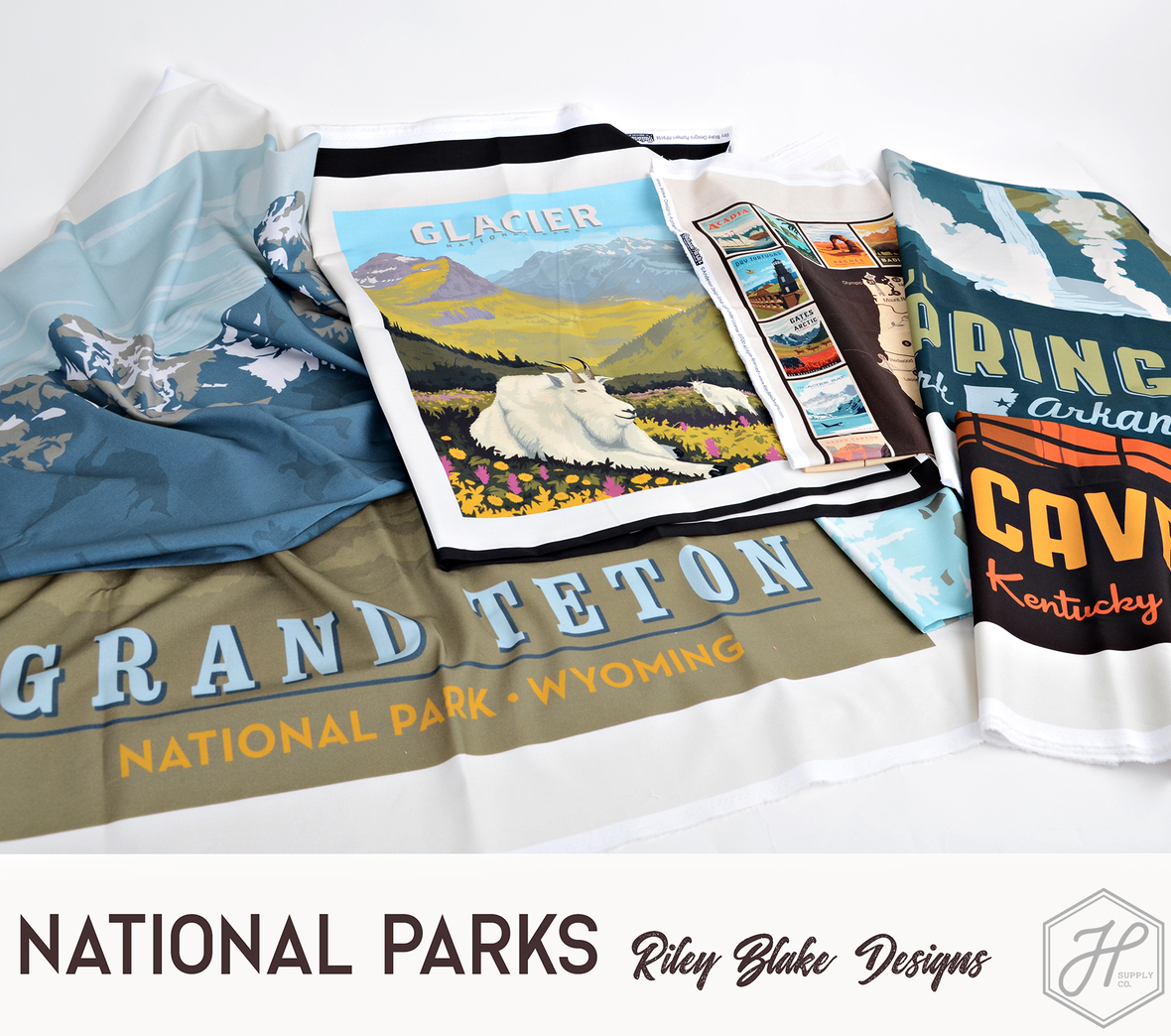 National Parks 3 Fabric and panels by Riley Blake at Hawthorne Supply Co