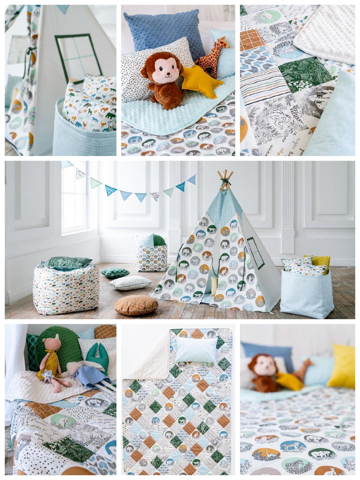 Gypsy Kids Design Zoo Garden Fabric by Hawthorne Supply Co