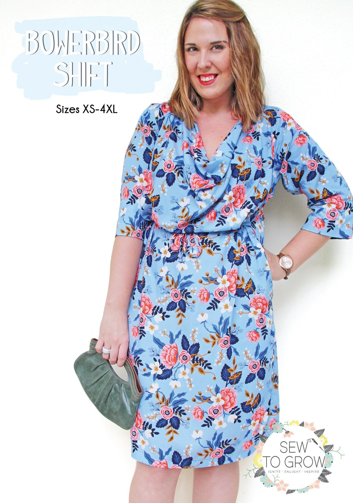 sew to grow  bowerbird shift sewing pattern