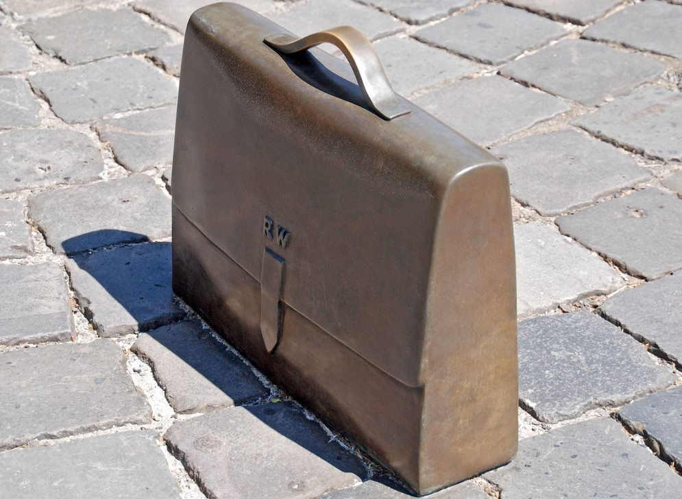 briefcase sculpture