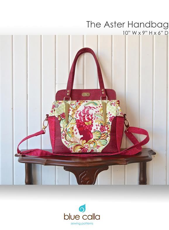 blue calla the aster handbag sewing pattern