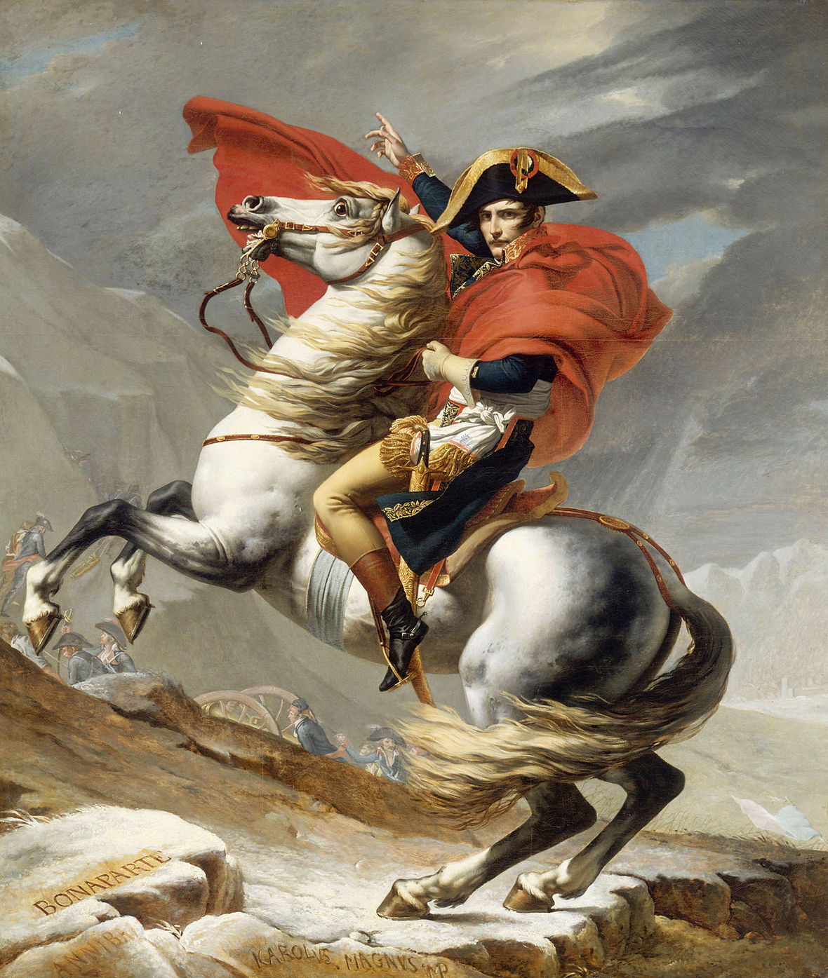 1280px-Jacques Louis David - Bonaparte franchissant le Grand Saint-Bernard  20 mai 1800 - Google Art Project