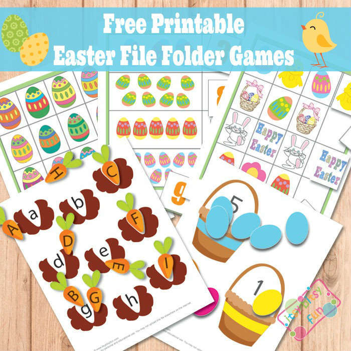 photo relating to Free Printable File Folder Games identified as Easter Document Folder Game titles Alphabet Worksheets Craftivities