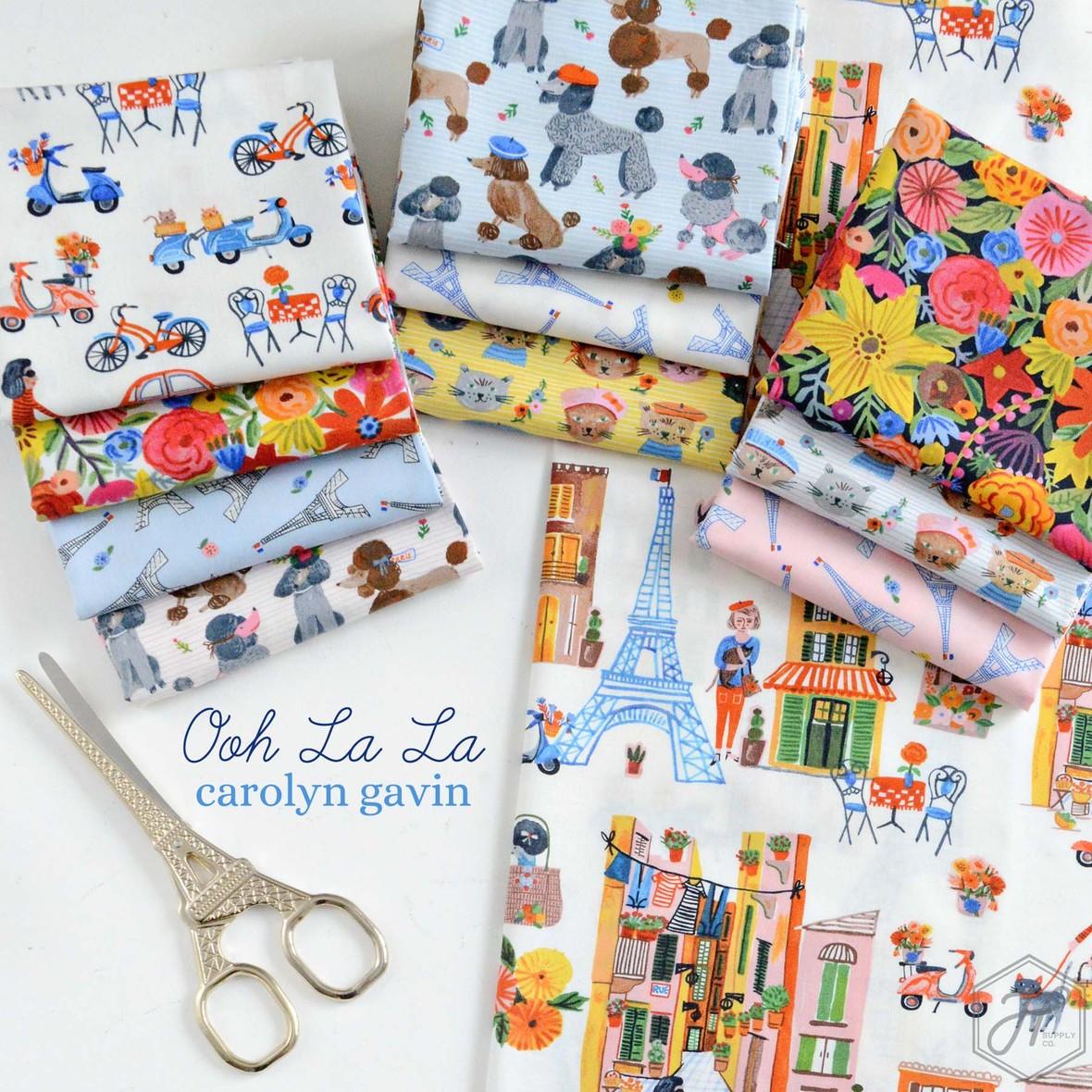 Ooh La La French Fabric Poster Carolyn Gavin at Hawthorne Supply Co