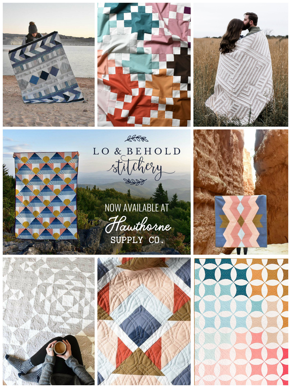 Lo and Behold Stitchery Quilt Patterns at Hawthorne Supply Co. Lifestyle Shots Final