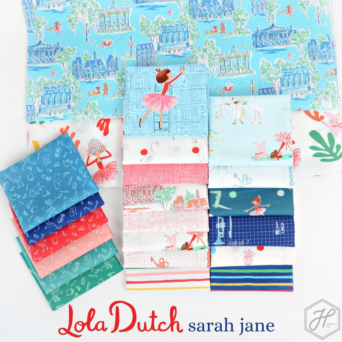Sarah Jane Lola Dutch Fabric for Michael Miller at Hawthorne Supply CO