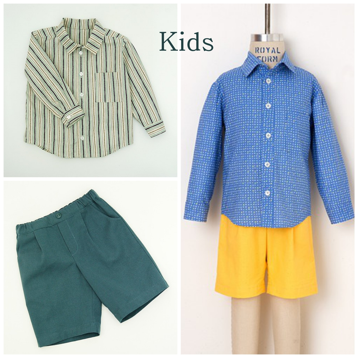 oliver and s  kids sketchbook shirt and shorts sewing pattern