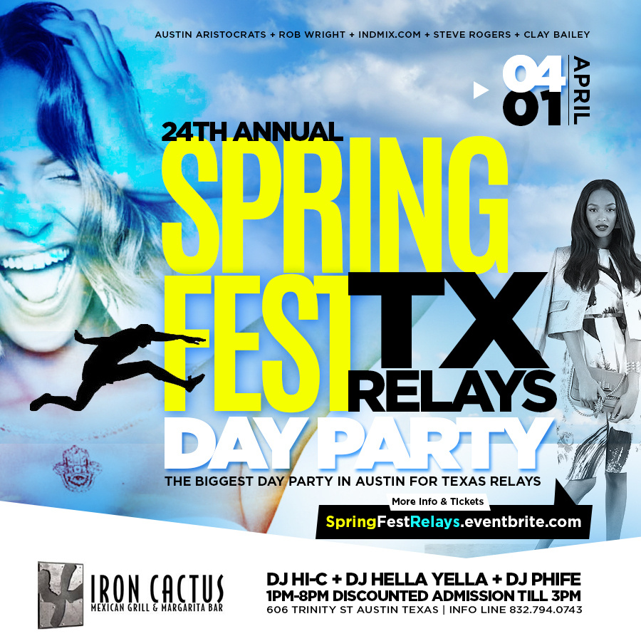 24th Annual SPRINGFEST Texas Relays Day Party Tickets, Sat, Apr 1 ...