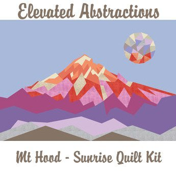 violet craft elevated abstractions mt hood  sunrise quilt kit sewing pattern