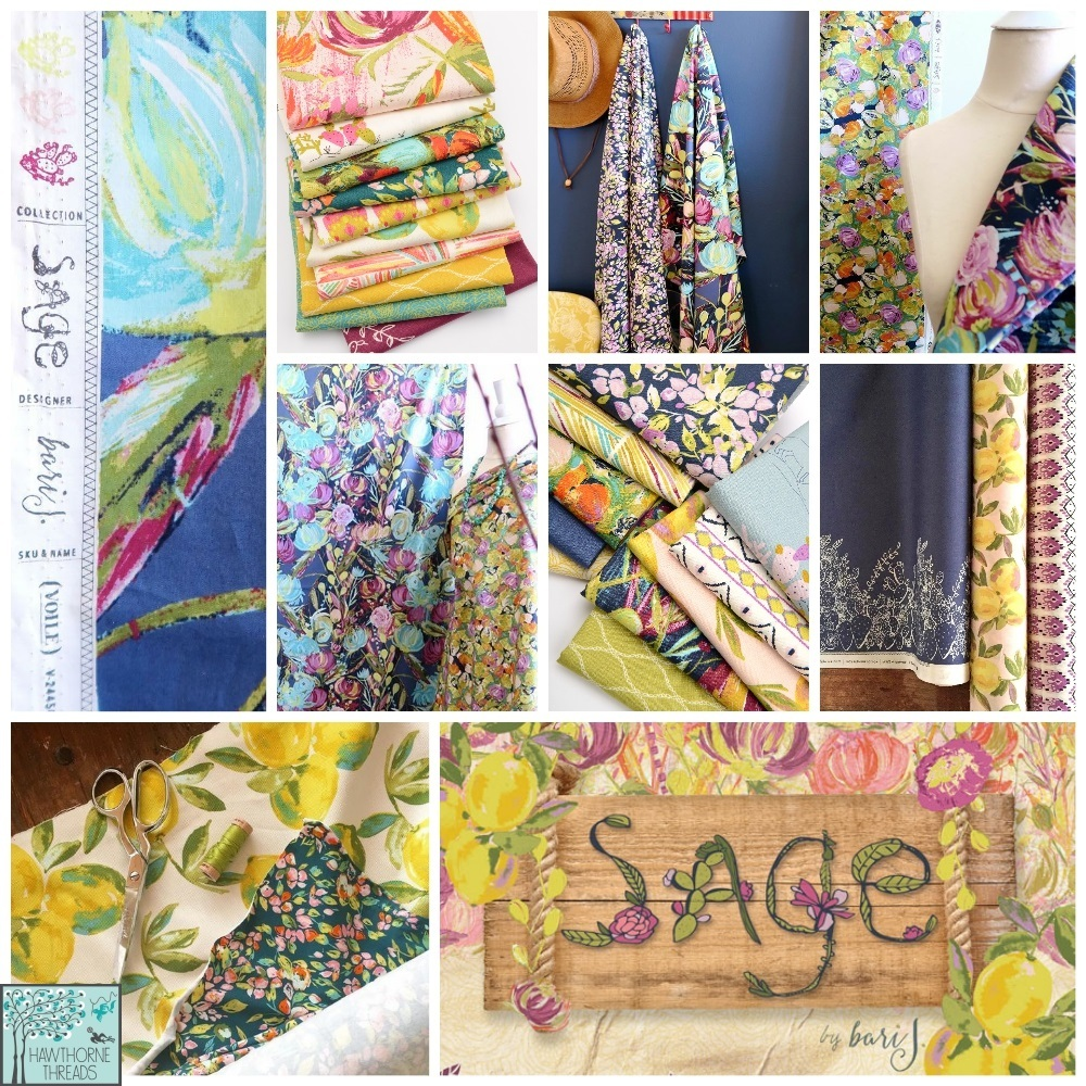 Sage Fabric Poster