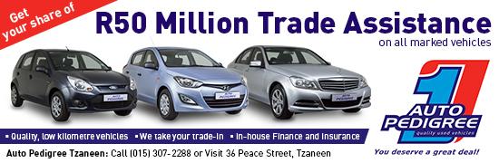 Auto Pedigree - Merensky Banner Advert  Tzaneen  550x180px