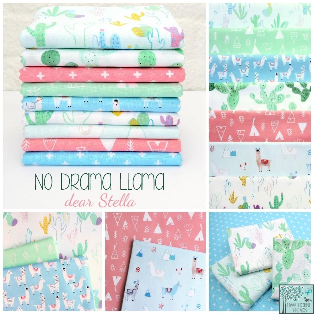 No Drama Llama Fabric Poster