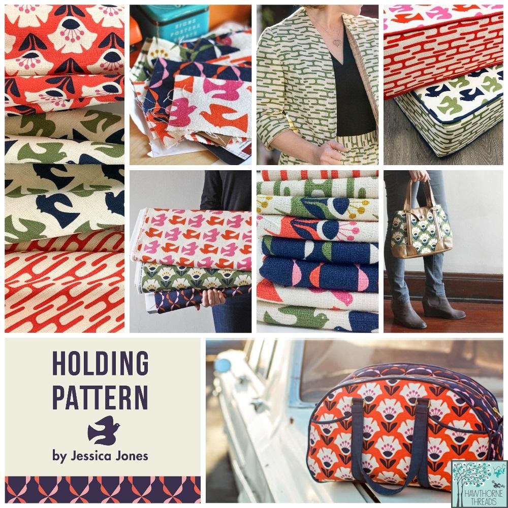 Holding Pattern Barkcloth Fabric Poster