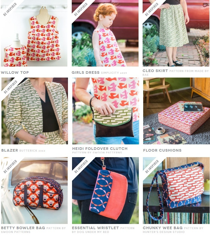 Holding Pattern Barkcloth Sewing Inspiration