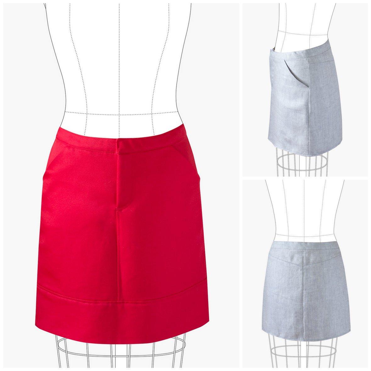 grainline studio  moss skirt sewing pattern