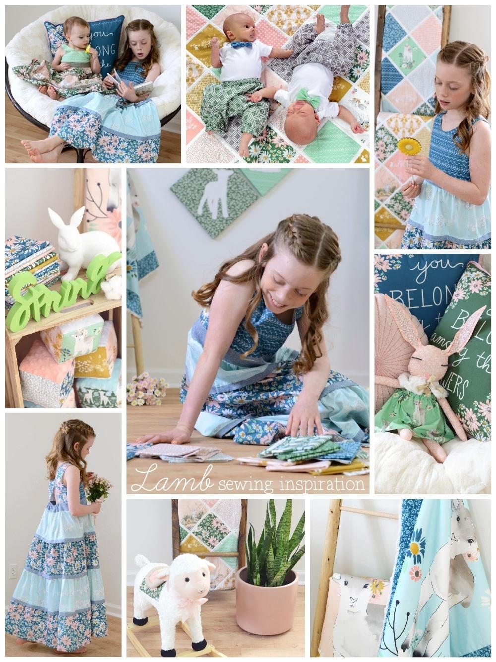Lamb Fabric Sewing Inspiration 1000