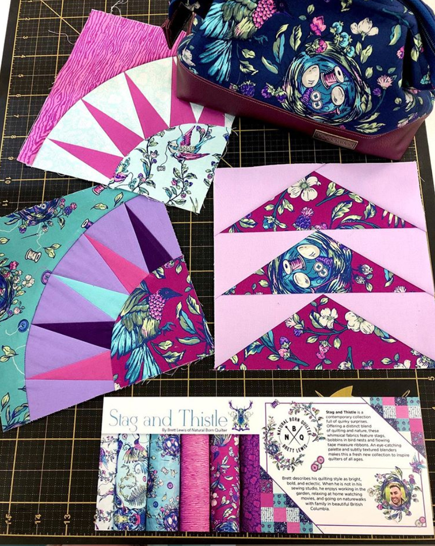 Stag and Thistle inspiration by Natural Born Quilter IG